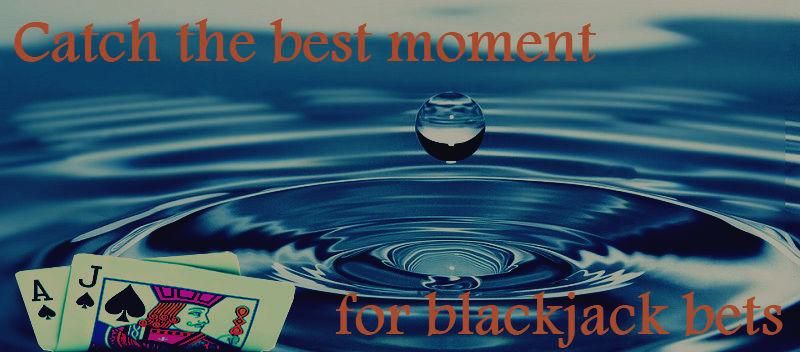 online blackjack bets making